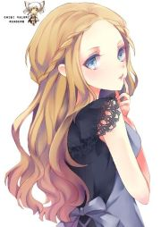 anime girl with flower crown
