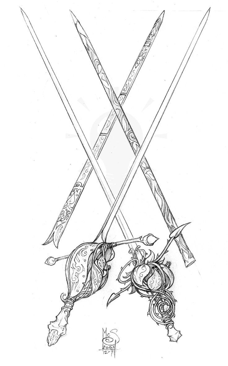 Forest Blades by Inkthinker swords equipment gear magic