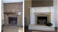 Orland Fireplace Mantel and Hearth Remodel   Before and ...
