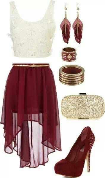 I adore the skirt in this! Perfect for a night out. Outfits for www.popmiss.com