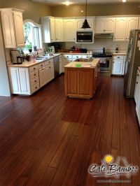 Dark Antique Bamboo Flooring for the kitchen