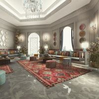 Moroccan Sitting area design - Private Palace- Saudi ...