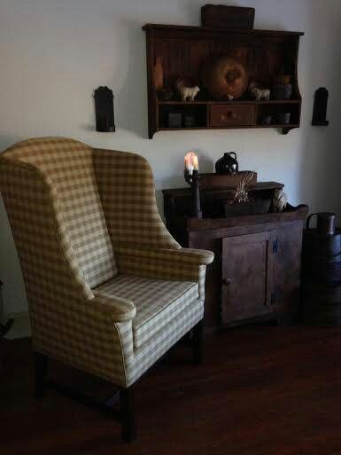 navy blue wingback chairs lazy boy recliner lift chair 17 best images about primitive upholstered on pinterest | exposed brick walls, and ...