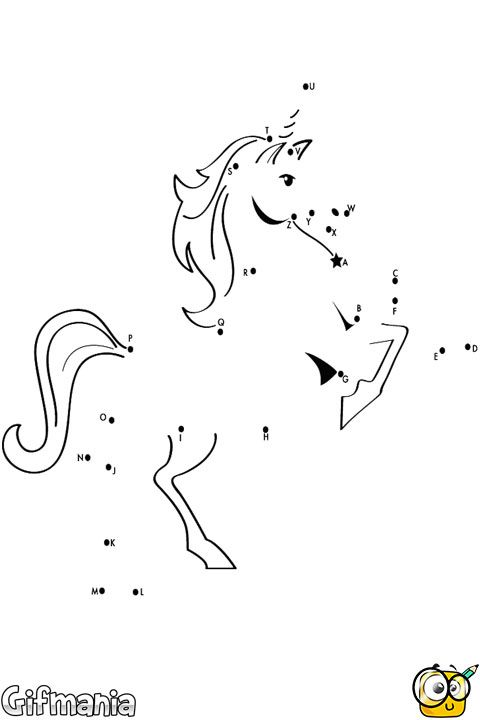 Connect the Dots of a unicorn #activity #connectthedots #