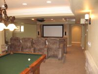 finished basement ideas | Basement Design, Basement ...