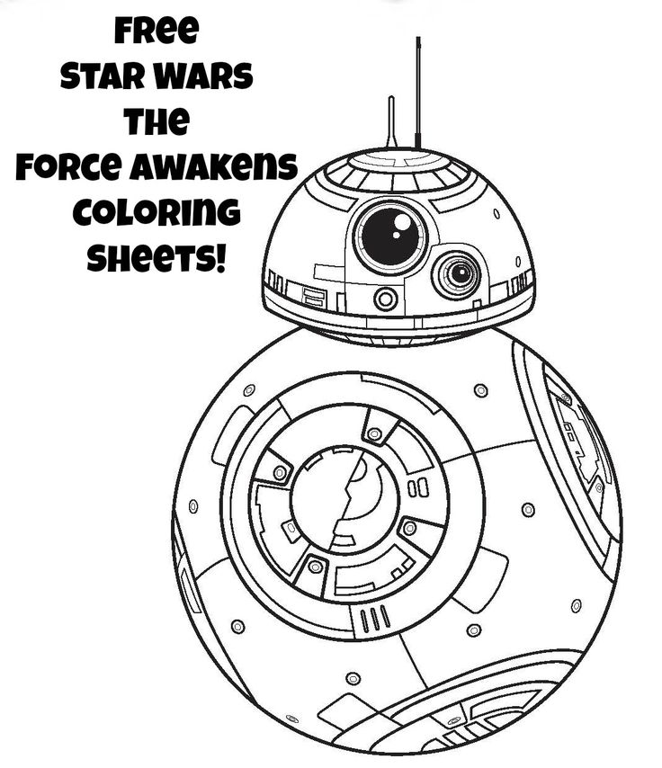 Star Wars The Force Awakens Bb 8 Coloring Pages