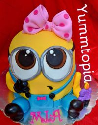 Minion girl cake | Cute Cakes! | Pinterest | Girls, Cakes ...