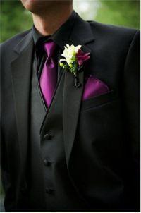 Black Suit Purple Shirt | My Dress Tip