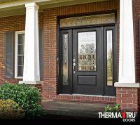 Therma-Tru Smooth-Star fiberglass door with Sedona ...