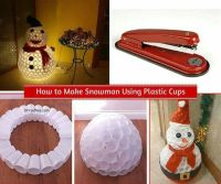 Plastic cup snowman | Recipies | Pinterest | DIY and ...