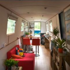 Black Stainless Steel Kitchen Sink Magic Grill Narrow Boat On George Clarke's Amazing Spaces   ...