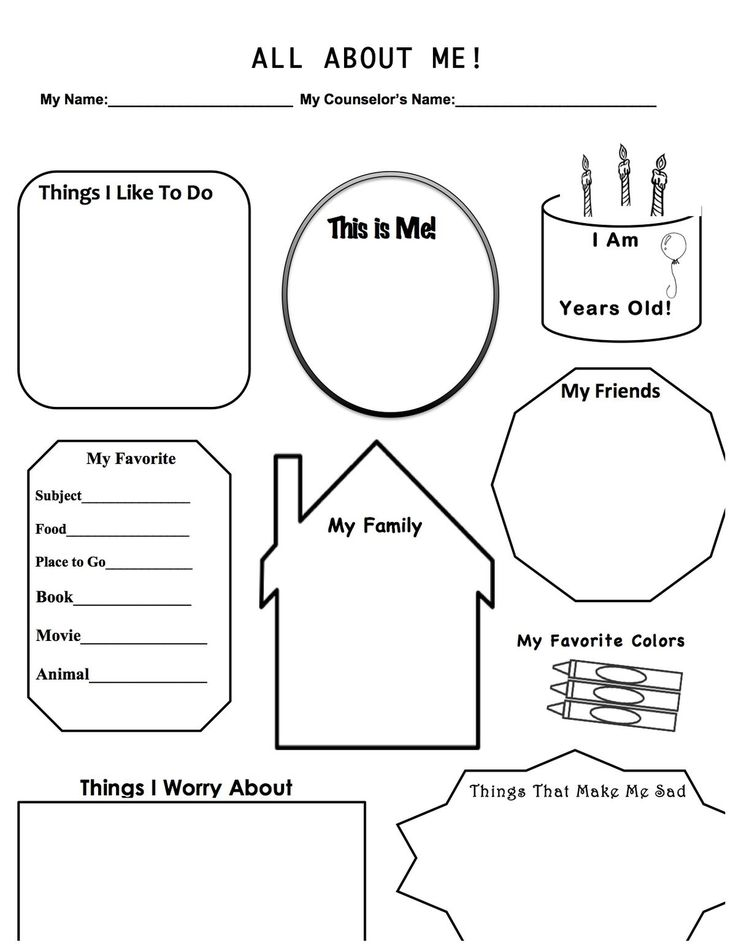 Anxiety: Anxiety Worksheets For Kids