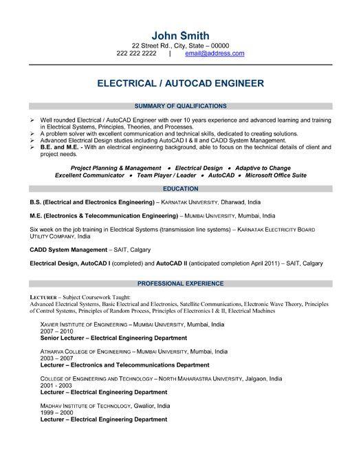 Good Engineering Resume Examples