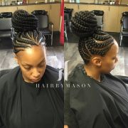 feeder braids updo #braids #cornrows