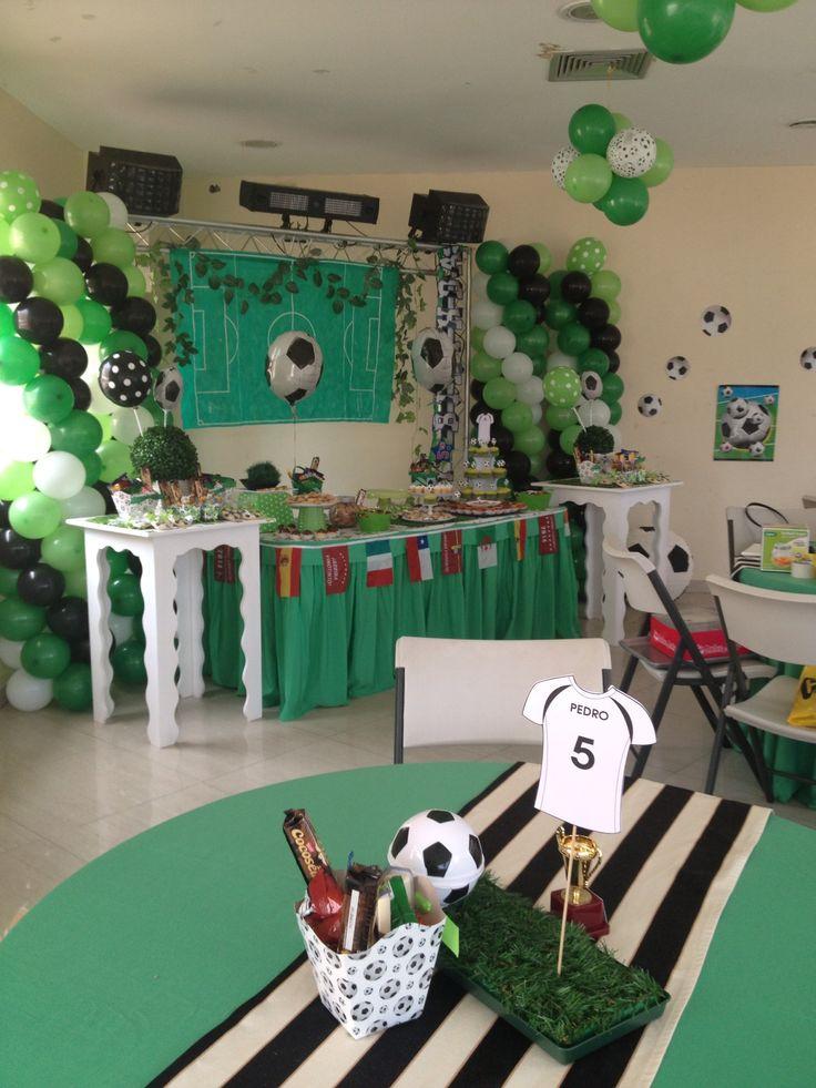 spiderman table and chairs steel chair base price fiesta de futbol. poner nombre baby en playera o apellido?   cumple futbol pinterest ...