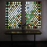 wine bottle window. | wine bottle wall ideas | Pinterest ...