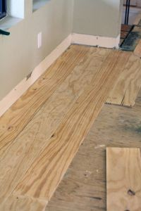 Little Green Notebook: DIY Wide-Plank Floors (Made from ...