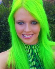 hair color green
