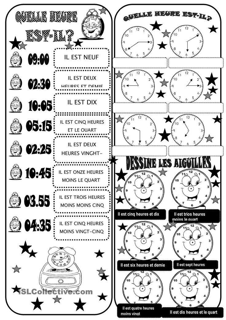 123 best images about Quelle heure est-il ? on Pinterest