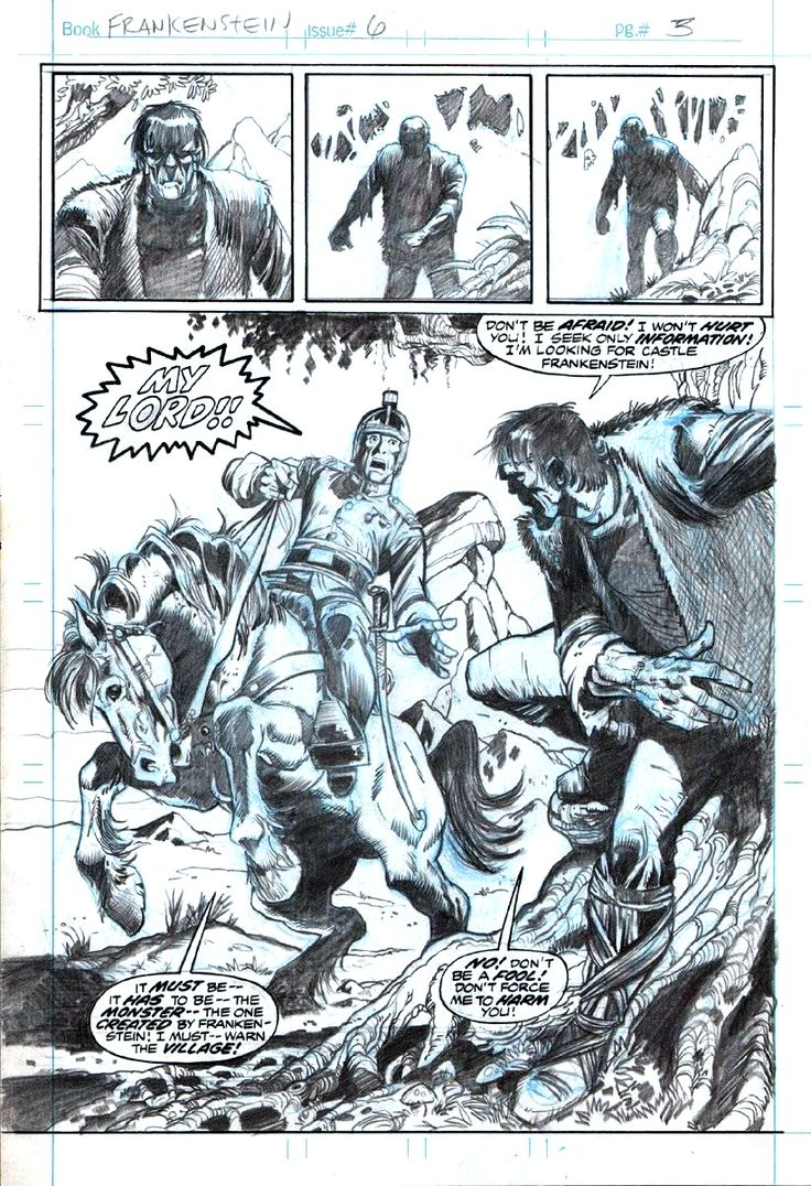 Frankenstein Pencils By Mike Ploog Comic Book Pencils