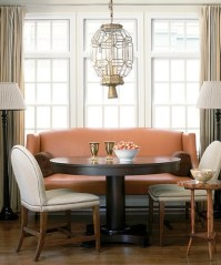 settee paired with a round dining table | Debbie Partyka ...