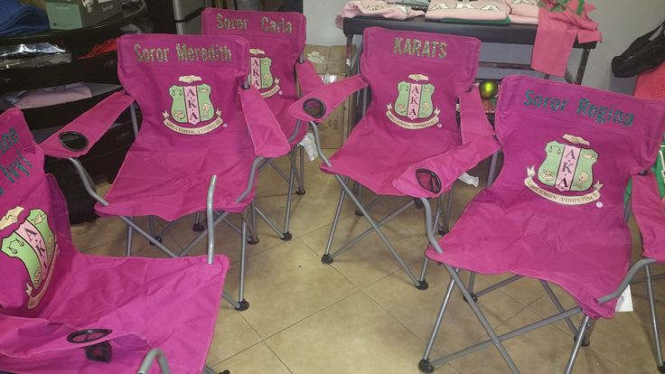 Alpha Kappa Alpha Custom picnic chairs wwwsororitiquecom
