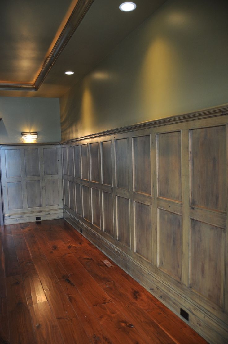 Wood Wall Paneling  Pub shed  Pinterest  Concrete walls