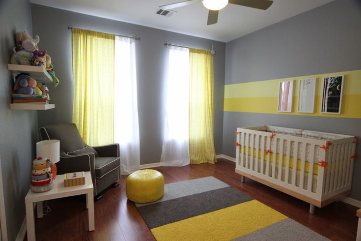 Eric's Gray And Yellow Modern Nursery