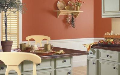 spanish colors paint colonial kitchen wall mediterranean schemes walls