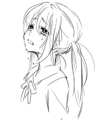 25+ best ideas about Anime Girl Crying on Pinterest