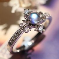 princess style art deco moonstone promise ring for her ...