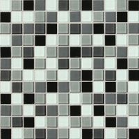 Daltile Isis Pewter Blend Glass Mosaic Wall Tile. 1x1 ...