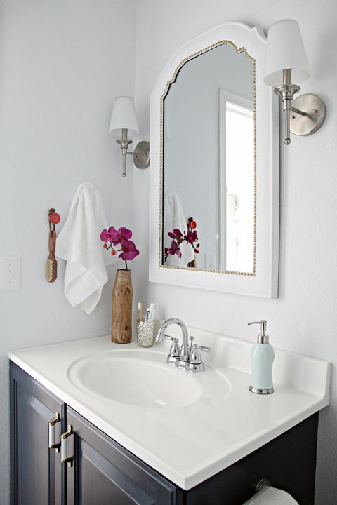 Inspired Rooms Pretty Bathroom Makeover  THE INSPIRED