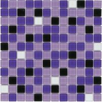 Glass Mosaic Tile Backsplash Purple Blend 1x1 | Purple ...