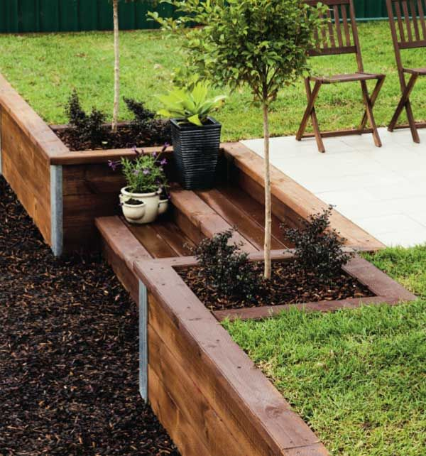 25 Best Ideas About Wood Retaining Wall On Pinterest Sleeper