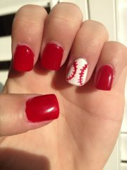 baseball nails. pretty