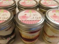 4 (8oz) Cupcakes In A Jar-Mason Jars-Baby Shower Favors ...