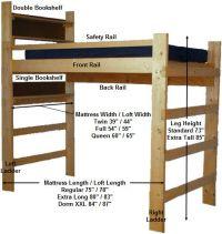 Best 25+ Dorm loft beds ideas on Pinterest | College loft ...
