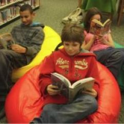 Comfy Chairs For Toddlers Portable Baby High Chair Hook On Public Library Promotes Teen Reading With Bean Bags Bag News | ...