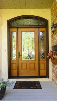 Marquise glass insert by Masonite, Golden Oak stained ...