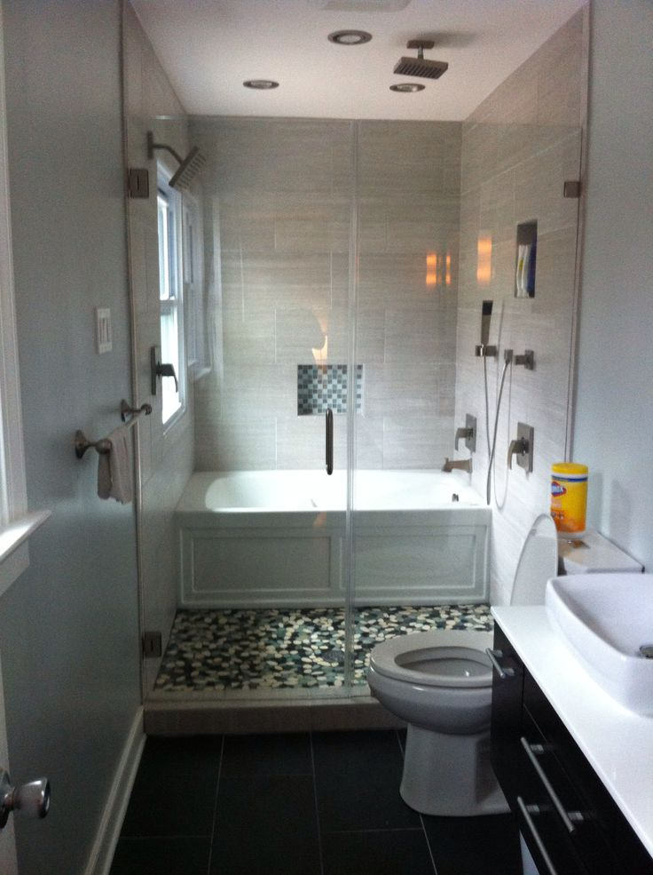 Narrow Bathroom  Bathroom ideas  Pinterest  Shower