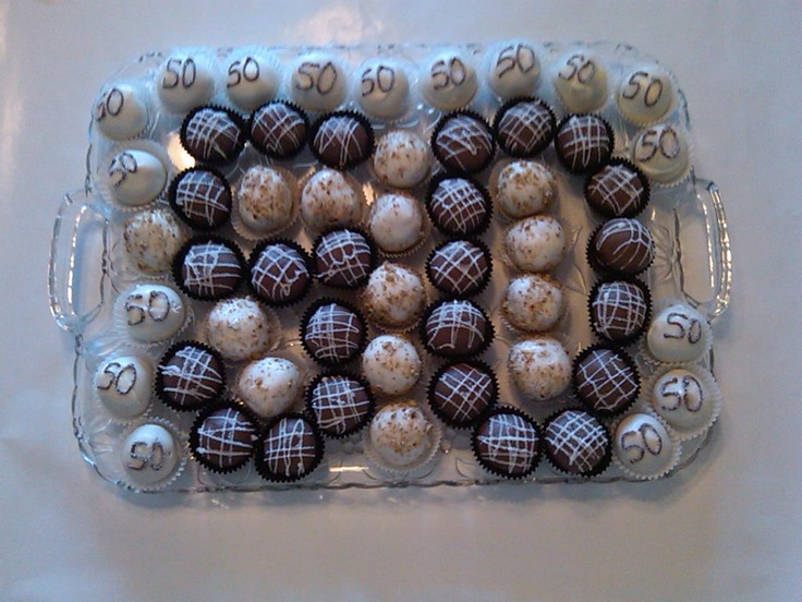 Cakeballs For A 50th Birthday Party Cakepops