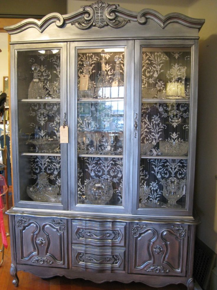 Metallic love  China Cabinet and Armoires  Pinterest