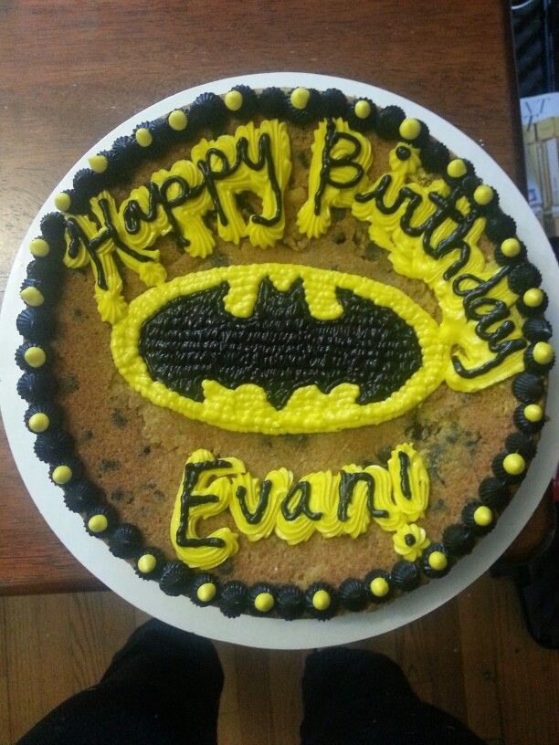 Batman Cookie Cake Cakes I Ve Made Pinterest Cookie