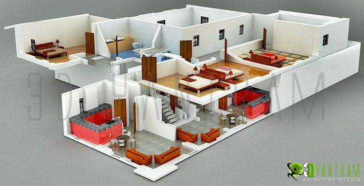 3D #Section #Plan #Design #house Interactive 3D Floor Plans