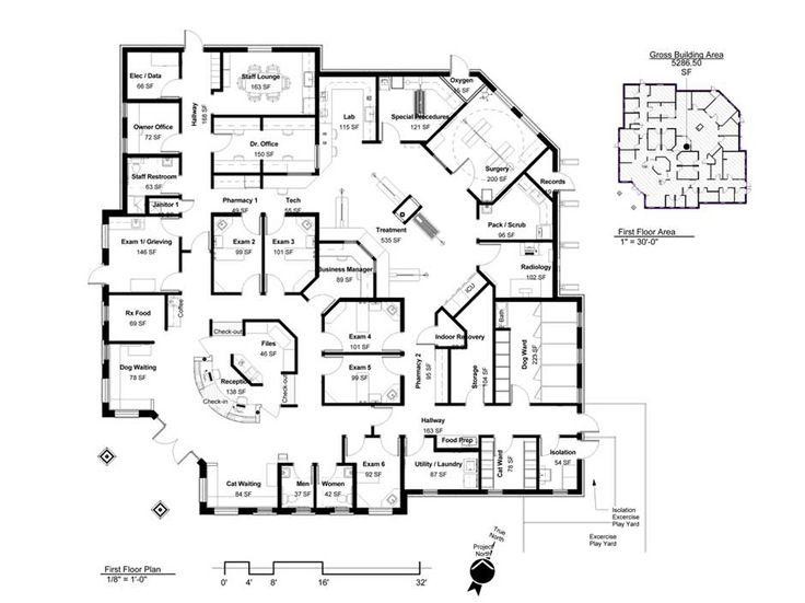 33 best Floor plans: Veterinary hospital design images on