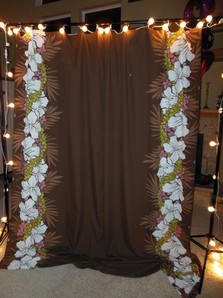 Assembled Photo Booth Back Drop Hawaiian Wedding