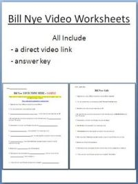 BILL NYE VIDEO WORKSHEETS (FOUR) - ELECTRICITY AND OPTICS ...