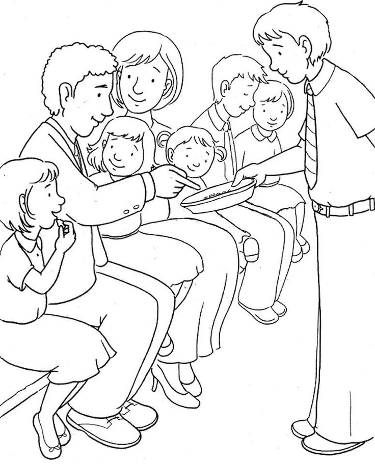 Lesson 3 & 4: Worship bulletin board- church family taking