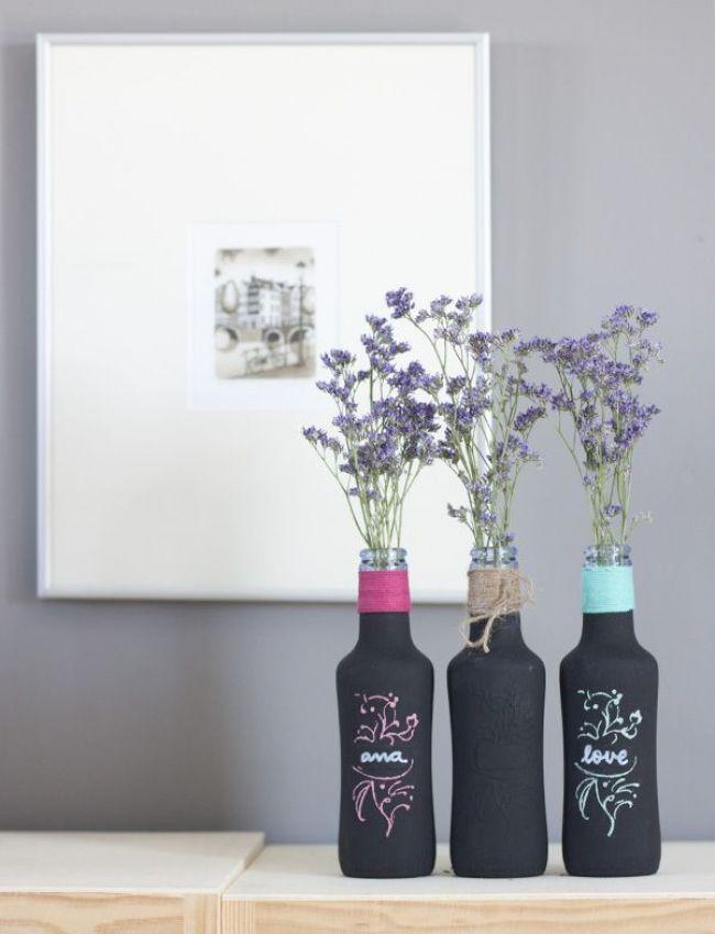 Resultado de imagen de botella reciclada decorar casa